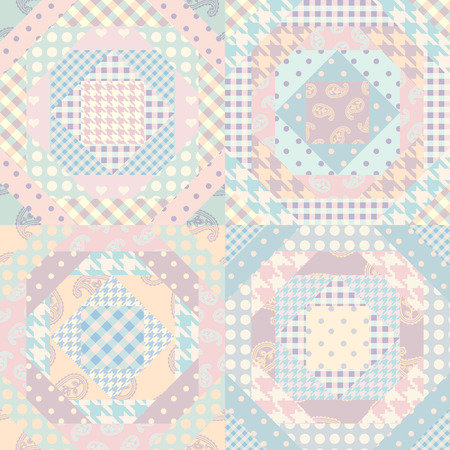 Seamless background pattern. Patchwork pattern. Vector image Illusztráció