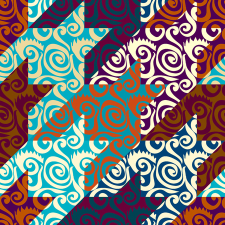Seamless background pattern. Patchwork pattern. Vector image 矢量图像
