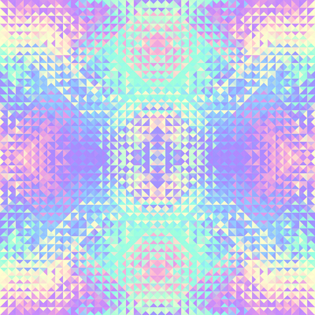 Seamless background. Geometric abstract pattern in low poly style. Effect of a glass. Vector image.