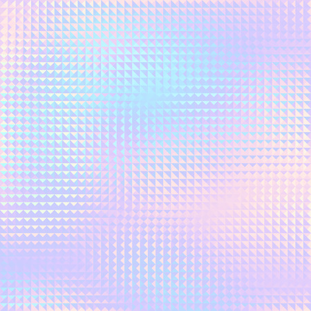 Geometric abstract pattern in low poly style. Effect of a glass. Small triangles. Vector image.