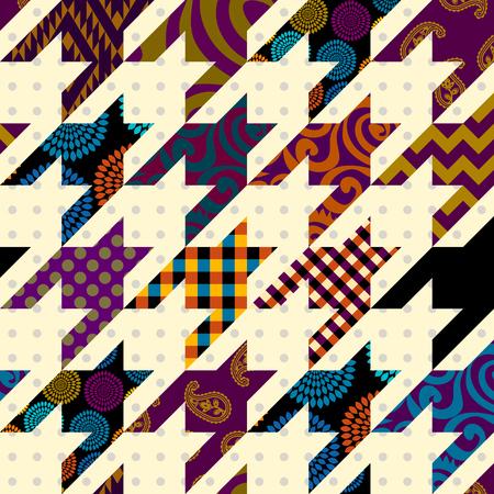Seamless background pattern. Patchwork pattern. Vector image Banco de Imagens - 126915766
