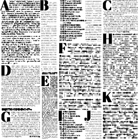 Seamless background pattern. Imitation of a abstract vintage newspaper. Unreadable text.