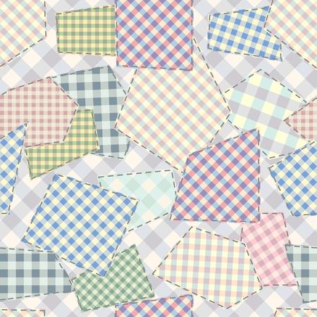 Patrón de fondo transparente. Patrón de patchwork. Imagen vectorial