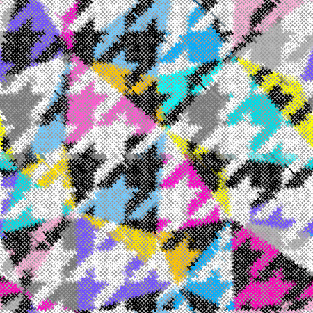 Seamless pattern. Imitation of a texture of rough canvas. Vector image.
