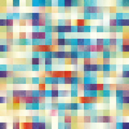 Geometric abstract pattern in low poly pixel art style. Seamless vector image.
