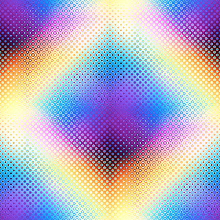 Geometric abstract pattern in low poly pixel art style. Polka dot pattern on low poly background. Seamless vector image. Illustration