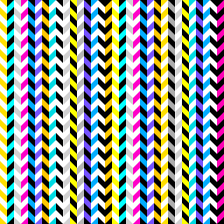 Seamless geometric pattern. Classic chevron pattern with a strips pattern. Vector image.