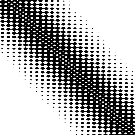 Halftone background. Wavy abstract element for design. Vector image.