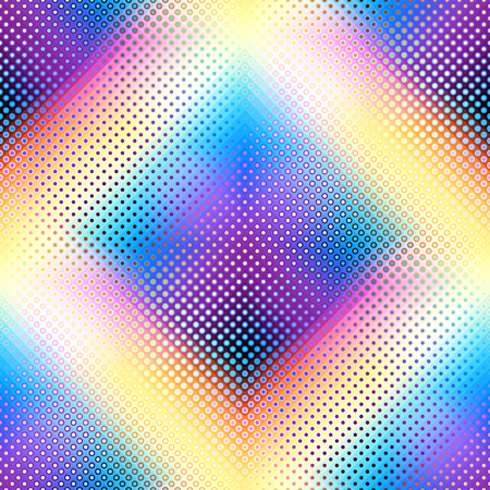 Geometric abstract pattern in low poly pixel art style. Polka dot pattern on low poly background. Seamless vector image. Ilustração