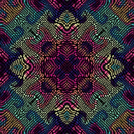 Bezszwowe tło wzór. Niezwykły zakrzywiony wzór mozaiki. Grafika wektorowa. Ilustracje wektorowe
