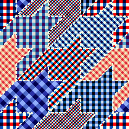 Seamless background pattern. Patchwork hounds-tooth pattern. Vector image