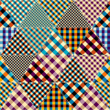 Seamless background pattern. Patchwork pattern. Vector image Imagens - 124097096