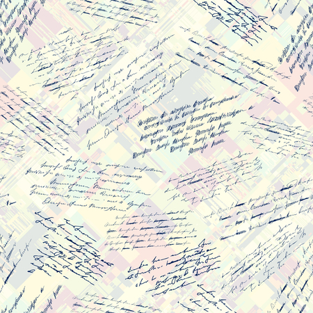 Seamless background pattern. Imitation of a abstract vintage lettering. Unreadable text. Vector Illustratie