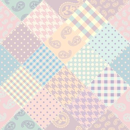 Nahtloses Hintergrundmuster. Patchwork-Muster. Vektorbild Vektorgrafik