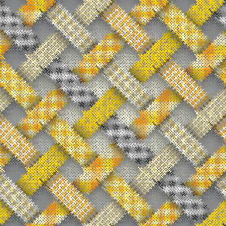 Seamless plaid pattern. Imitation of a texture of rough canvas. Vector image. Illusztráció