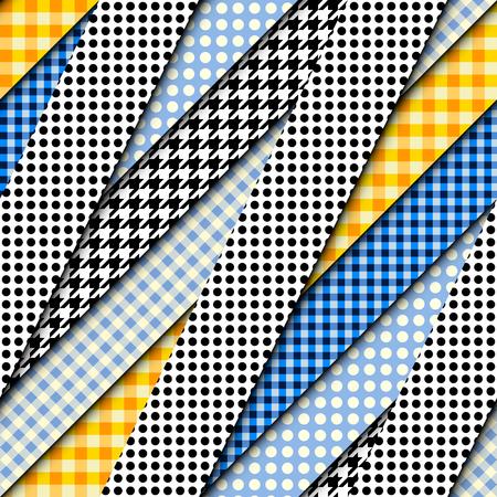 Seamless vector image. Patchwork pattern. Imitatin of interweaving ribbons.