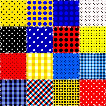 Seamless background pattern. Patchwork pattern. Vector image Vektorové ilustrace