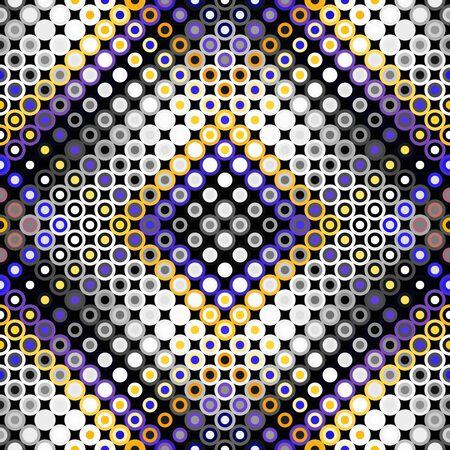 Seamless geometric pattern. Classic polka dot pattern. Vector image.  イラスト・ベクター素材