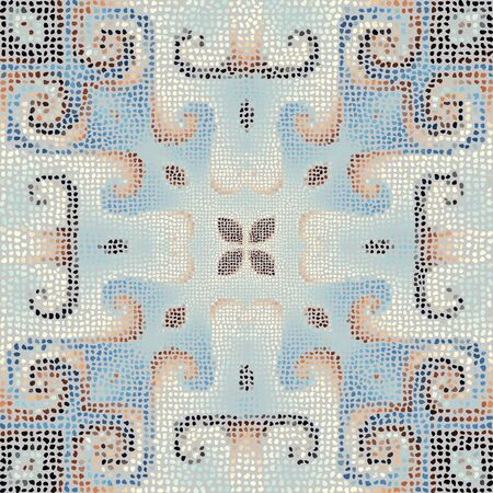 Seamless mosaic art pattern. Abstract art background. Archivio Fotografico - 129489720