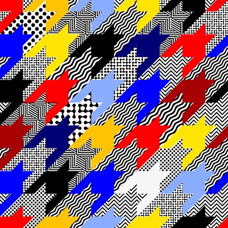 Seamless pattern. Classic polka dot pattern in geometric collage style. Archivio Fotografico - 129489781