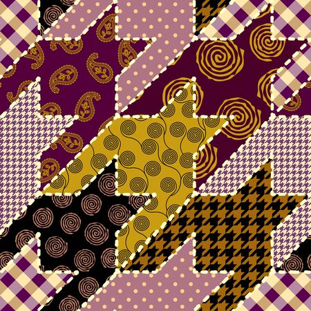 Seamless background pattern. Patchwork pattern. Vector image Ilustração
