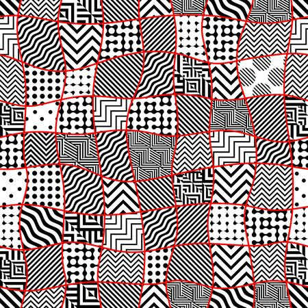 Seamless background. Geometric abstract vector pattern. Simple black and white texture