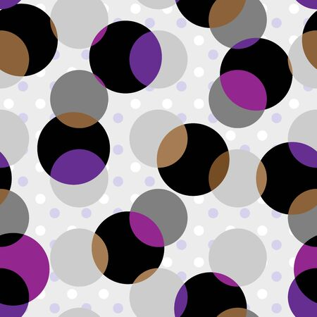 Seamless pattern. Classic polka dot pattern in geometric collage style. Vector image.