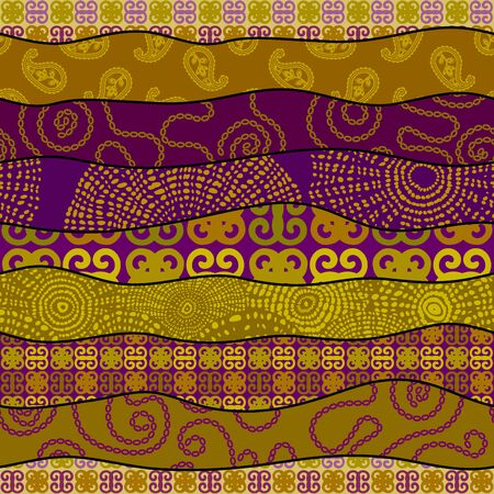 Seamless background pattern. Patchwork pattern in indian style. Vector image