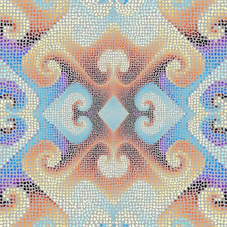 Seamless mosaic art pattern. Abstract art background.. Vector image. Illusztráció