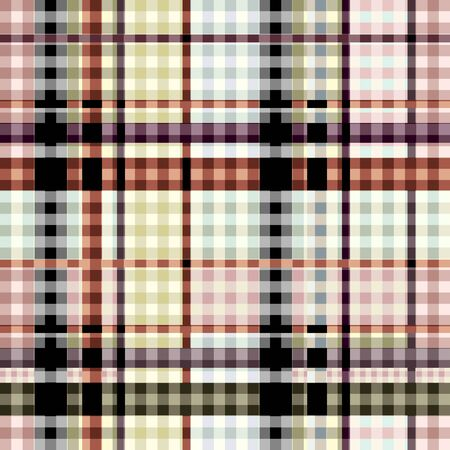 Seamless background pattern. Plaid pattern in patchwork style. Ilustração