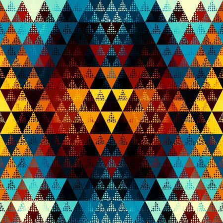 Seamless pattern of a triangles. Aztec ornament.