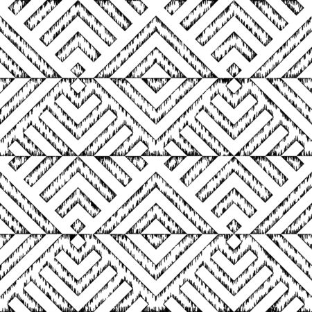White aztec ornament. Vector image. Seamless pattern.