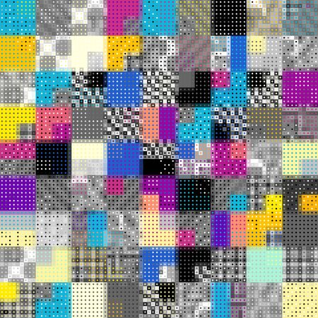 Abstract geometric background in low poly style. Polka dot pattern. Vector image.