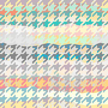 Seamless geometric pattern. Classic Hounds-tooth pattern in geometric collage style with grunge effect. Vector image.