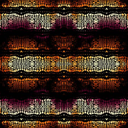 Seamless background pattern. Abstract ethnic tribal pattern. Vector image Çizim