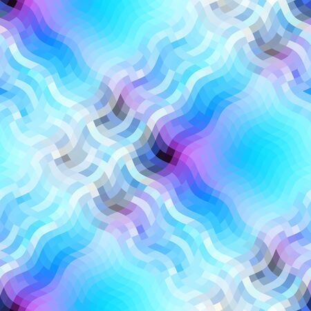 Seamless plaid abstract pattern in low poly style. Wavy texture. Vector image. Illusztráció