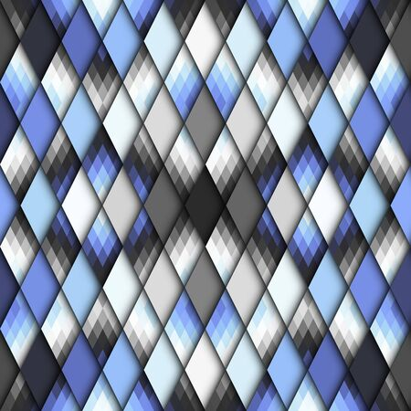 Seamless pattern of rhombuses. Vector image.