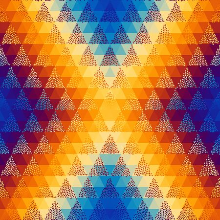Seamless pattern of a triangles.. Aztec ornament. Vector image. Çizim