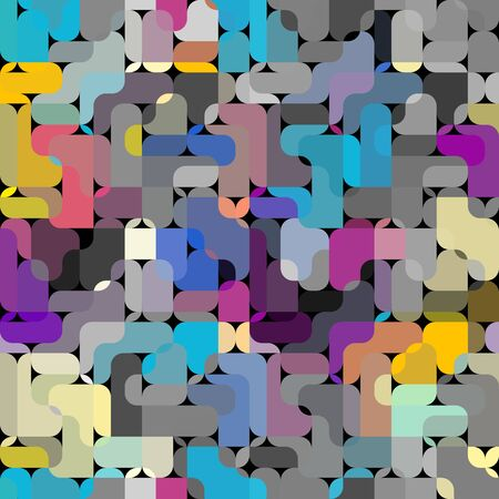 Seamless abstract pattern in low poly style. Wavy texture. Vector image. Çizim