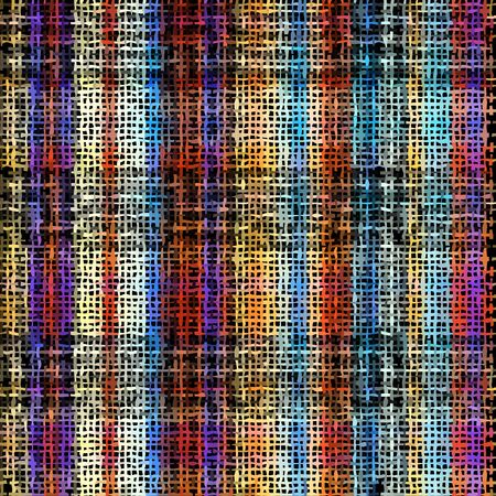 Seamless plaid pattern. Imitation of a texture of rough canvas. Vector image. Çizim