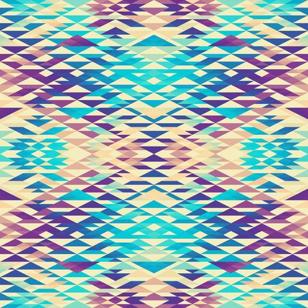 Seamless pattern of a triangles.. Aztec ornament. Vector image. Seamless pattern.