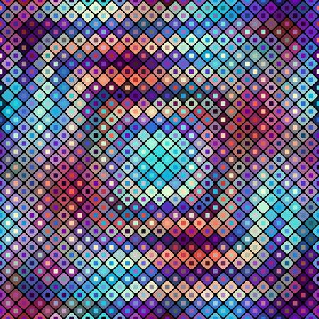 Abstract geometric pattern in low poly style. Small squares.. Vector image.