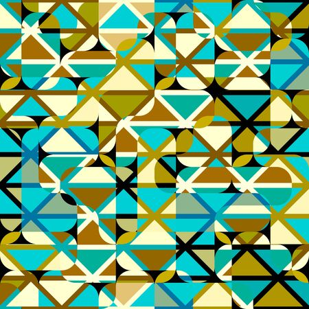 Seamless background. Geometric abstract vector pattern of triangles in a patchwork style.
