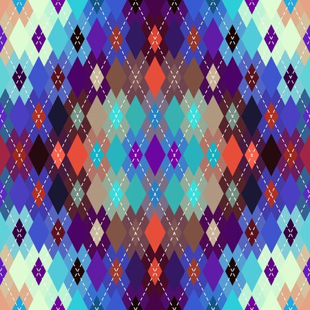 Classic argyle seamless pattern background. Vector image.