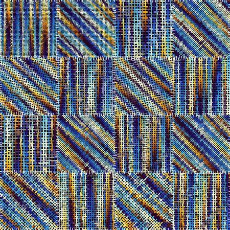 Seamless pattern. Imitation of a patchwork pattern of rough canvas. Vector image. Ilustração