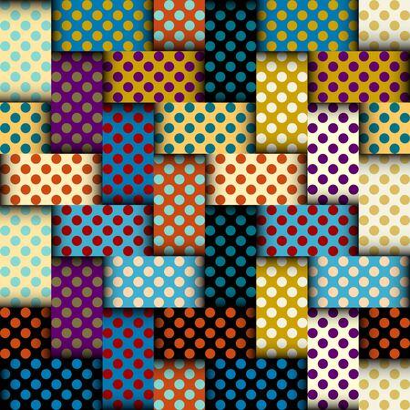 Seamless vector image. Patchwork plaid pattern. Imitatin of interweaving ribbons. Ilustração