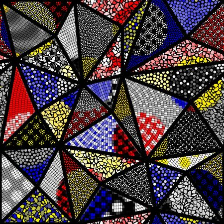 Seamless mosaic art pattern. Abstract art background.. Vector image.