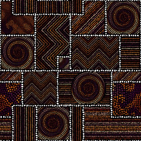 Seamless background pattern. Abstract ethnic tribal pattern. Vector image.