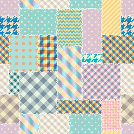 Seamless background pattern. Textile patchwork pattern.
