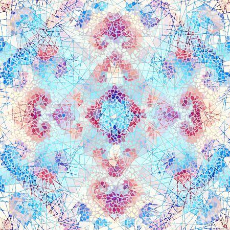 Seamless mosaic art pattern. Abstract art background.